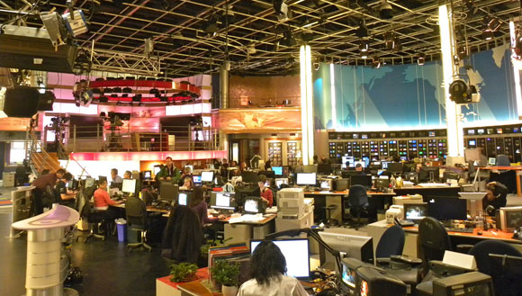 Newsroom of Maison Radio-Canada in Montréal, QC. Photo by Jason Paris.