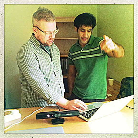 Mohamed Salimian (right) is a doctoral Computer Science student at Dalhousie University.